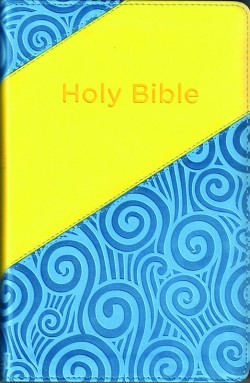 Two-Tone Kid's KJV Bible -  Blue/Yellow