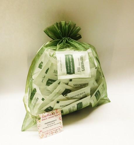 Peppermint Bible Verse Tea - Bulk Bags (100 tea bags)